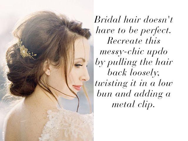 Wedding hair ideas you can do yourself | Wedding Look | Pinterest