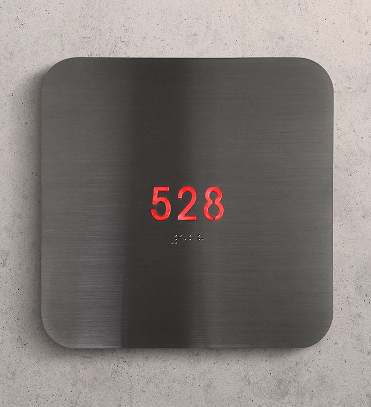 """Illuminated house Number Plague Signs by Luxello are 6 x 6"""" inch backlit LED panel that can fit up to 5 numbers or letters on the panel. A modern elegant door sign number illumnation system that works in both commercial and residential applications...."""