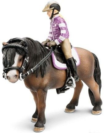 Schleich's Farm Life Pony Riding Set 42039 - This pony riding tack with rider offers the foundations of horse riding. Soon it will be time to take a turn around the riding ring (pony sold separately). #schleich #ponytoys #horsetoys #yearofthehorse