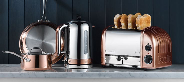 Dualit Copper Classic Toaster and Classic Kettle
