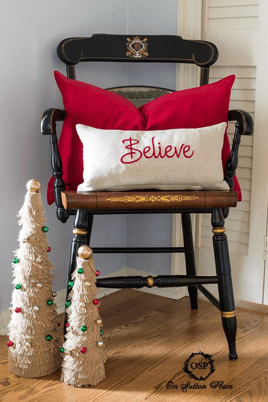 Believe pillow cover by Sutton Place Designs on Etsy