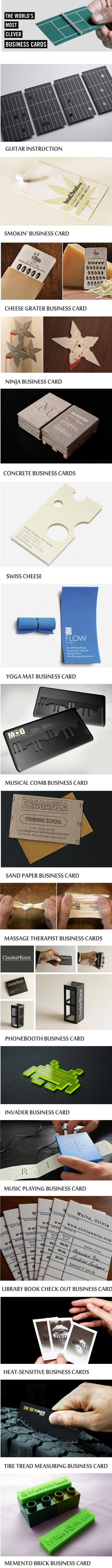 These are The World's Most Clever Business Cards.