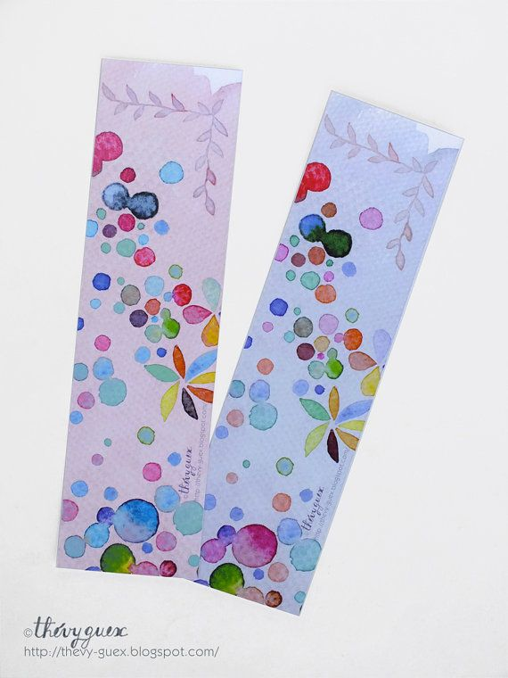 Dots Watercolor Bookmarks/Multicolor Pastel by thevysherbarium, $4.50