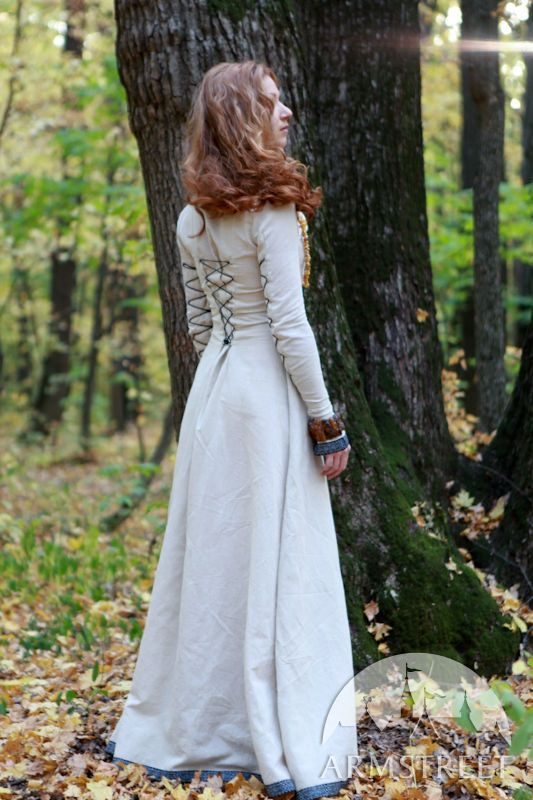 "Classic Medieval Dress with Lacing ""Sunshine Janet"""