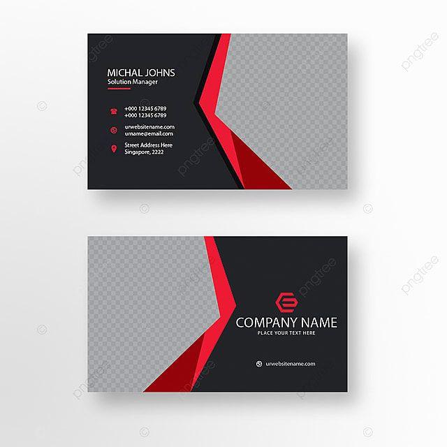 Schwarze Und Rote Visitenkarte Red Business Cards Business Cards Vector Templates Vector Business Card