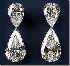 Diamond earrings estimated at 2,000,000. Good Lord !