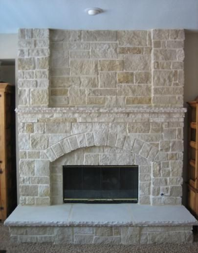 Thin Stone Fireplace Refacing