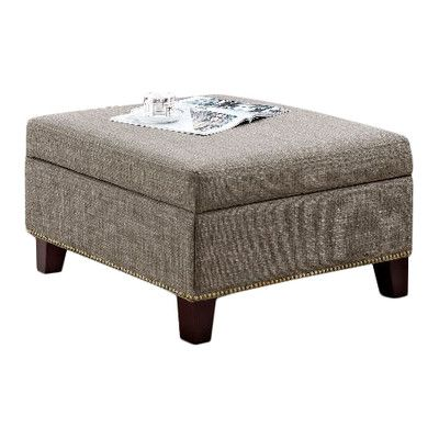 Dorel Living Square Ottoman with Nailheads