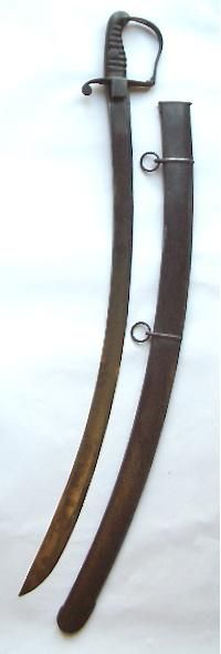 """Orig:  Sword designed by the visionary cavalry officer, John Gaspard Le Marchant (1766-1812) In 1795, in collaboration with the Birmingham sword cutler Henry Osborn, he designed a new cavalry sabre, which was adopted for the light cavalry and much feared by the French. In 1796 he produced the much celebrated """"The Rules and Regulations of the Sword Exercise of the Cavalry"""" which was instantly adopted by the British Army as its official manual. ."""