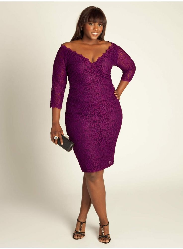 Justine Lace Dress in Deep Orchid: Cocktails Dresses, Style, Justin Lace, Clothing, Color, Deep Orchids, Plus Size Dresses, Birthday Dinners, Lace Dresses