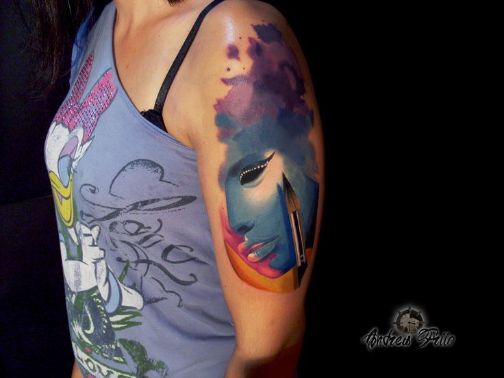 surrealism- watercolour tattoo