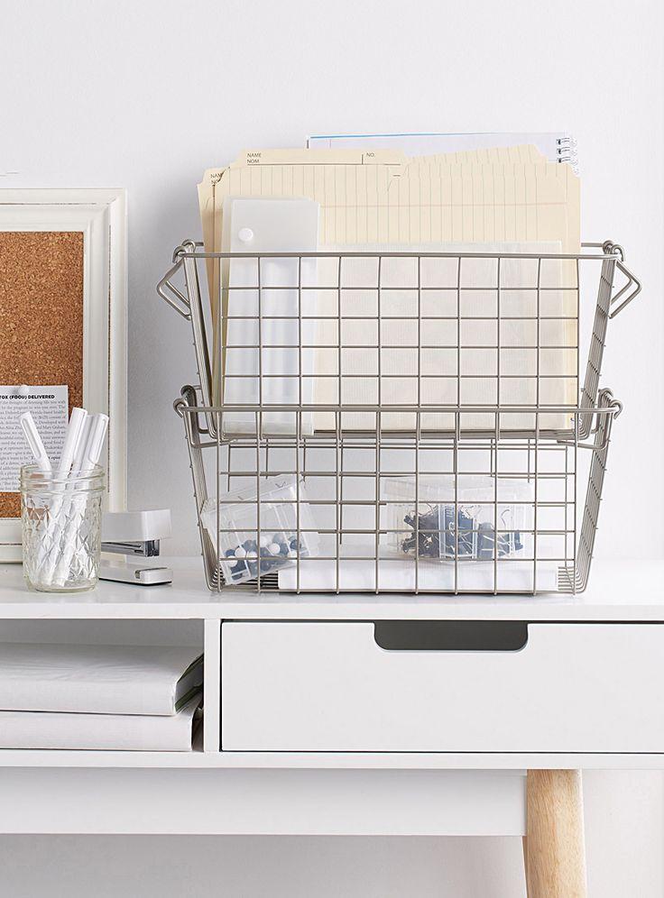 Silver metal basket - Baskets & Storage - Assorted