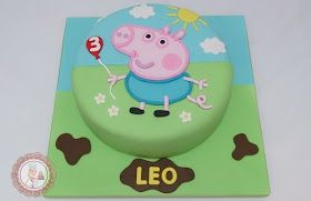 Mari Leal Cupcakes: Peppa Pig Party - George