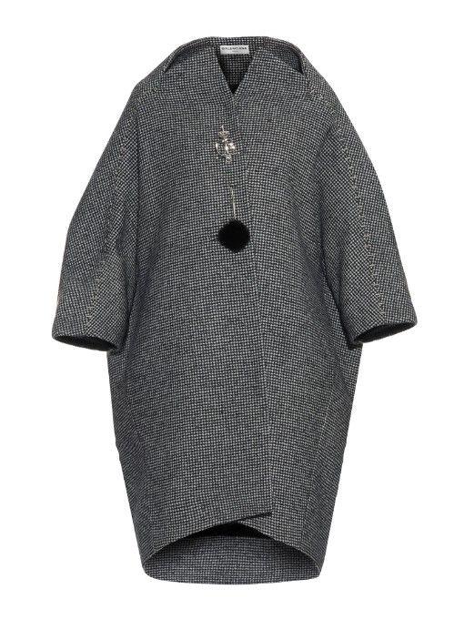 Balenciaga Mini hound's-tooth wool-blend cocoon coat