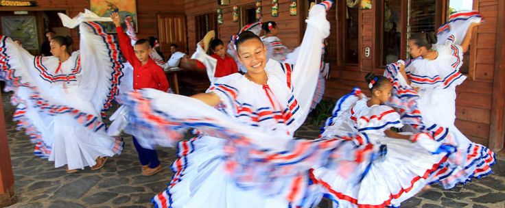 Arts: This picture above shows a traditional dance from Costa Rica. Dance is a famous art of the costa rican culture. Dances such as salsa, merengue, and cumbia, as well as the Costa Rican swing, are popular. The songs that they play are typical instruments that musicians play.
