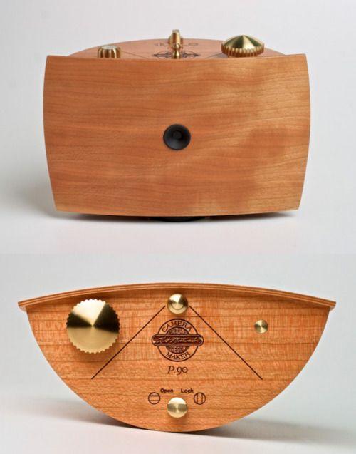 Wood Craft Pinhole Camera by Karl Mottweiler