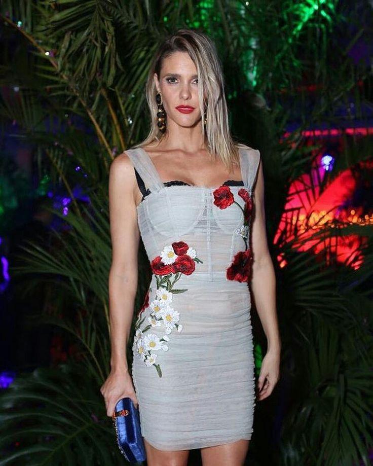@dolcegabbana Beautiful @fernandalimaoficial wearing Dolce&Gabbana at the #DGLovesBrazil party tonight. #DGwomen ph. @fashiontomax