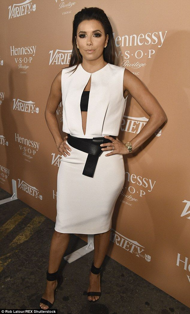 All 'Hot and Bothered': Longoria attended the 10 Latinos To Watch event in Los Angeles on Wednesday night, the day before she was spotted shooting her new NBC show Hot & Bothered