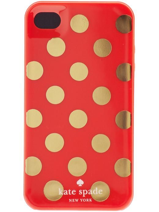 gold polka dots iphone case kate spade