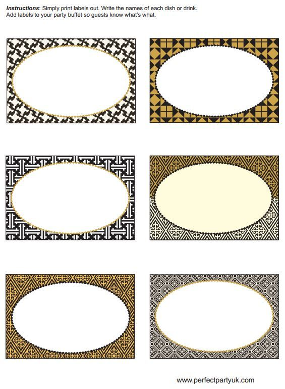 Printable 1920s food labels or placeholders. http://www.perfectpartyuk.com/theme-guides/1920s/free-printables/
