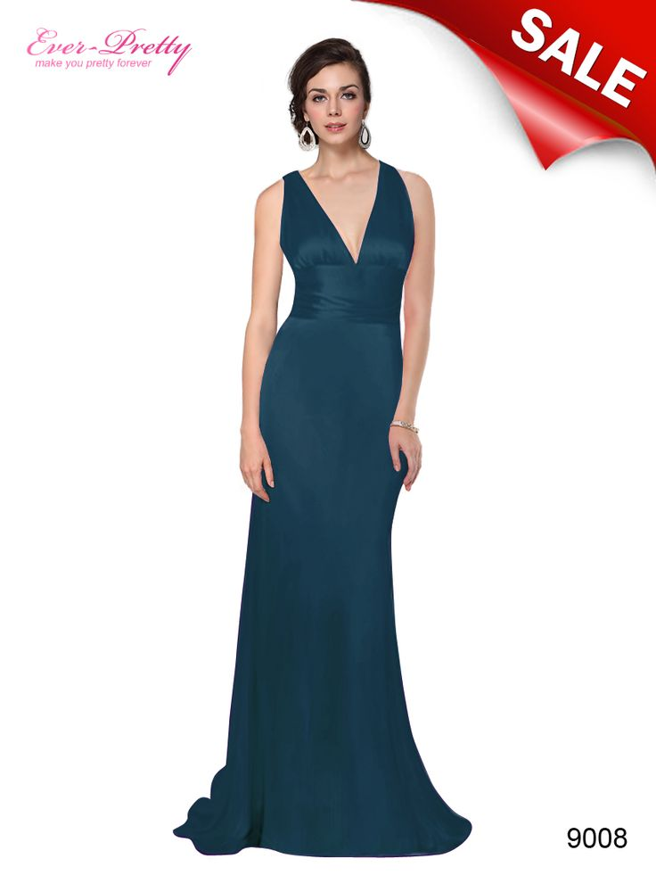 Elegant Malachite Green Sexy V-neck Evening Dress #FlashSale This weekend only! Don't Miss Out! Shop Now! #eveningdress #sale #promo