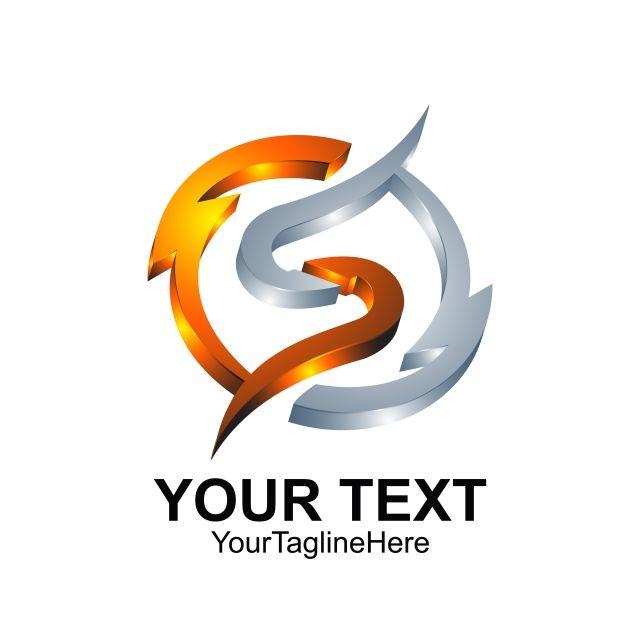 Letter S Logo Design Template Colored Silver Orange Circle Light S Logo Design Logo Design Template Logo Design Free Templates