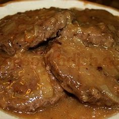 Hamburger Steak with Creamy Onion Gravy (1) From: Deep South Dish (2) Webpage has a convenient Pin It Button