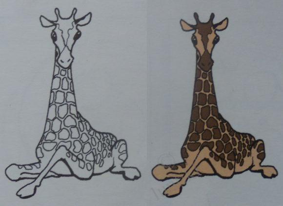 интересный жираф рисунок - Поиск в Google