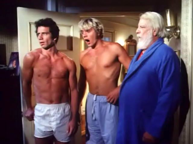 John Schneider & Tom Wopat AND Denver Pyle (Luke, Bo and Uncle Jesse) - apparently someone's woke the Duke household up in the middle of the night...