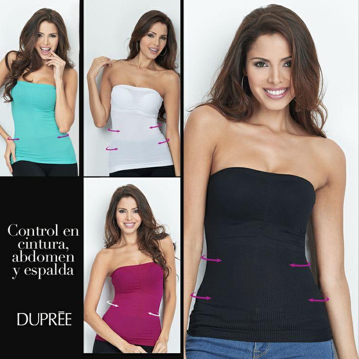 trola tu cintura, abdomen y espalda con las Blusas Strapless Control. Lindo diseño
