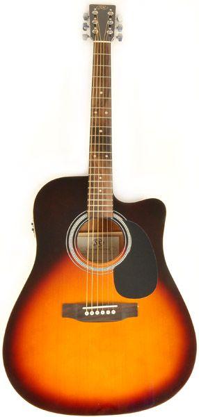 cheap acoustic guitars SX Mentor S CE Sunburst
