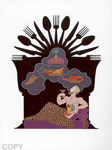 """""""Gluttony""""   by   Erte from """"The Seven Deadly Sins Suite"""""""