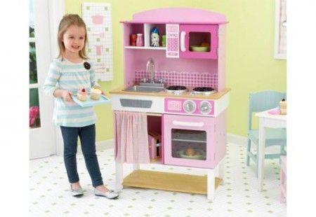 Rózsaszín konyha - Kidkraft készíts egy fínom lakopmát - játékkonyhádban