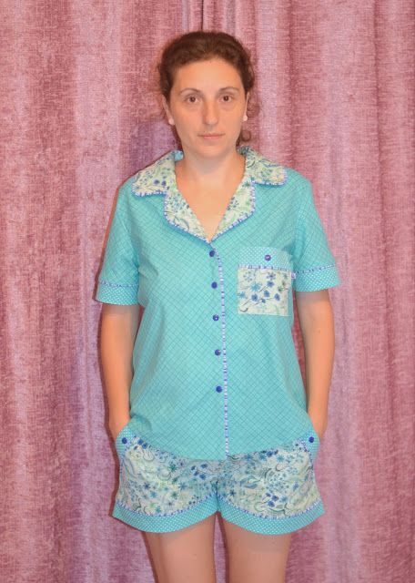 I believe I can sew...: PR sewing bee round 2 entry - PJs - Carolyn Pajamas