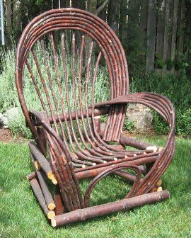 wide variety of twig furniture ... {bought one of these 35+ yrs ago ... it still stands. have used indoors (in my living room) and outdoors (in the yard, on the porch, for sitting and holding potted plants)}