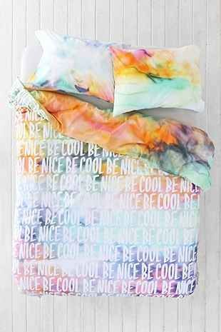 Plum & Bow Be Cool Be Nice Duvet Cover - Urban Outfitters