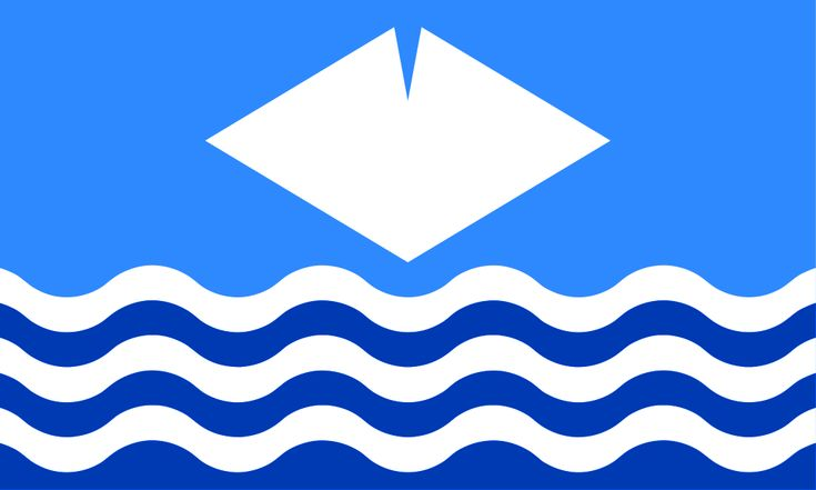 Isle of Wight County flag since 2009 ~ County Town Newport