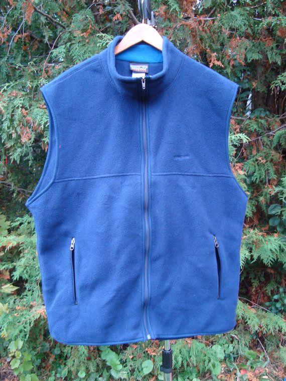 Comfy Patagonia Deep Blue Patagonia Fleece Vest Vintage