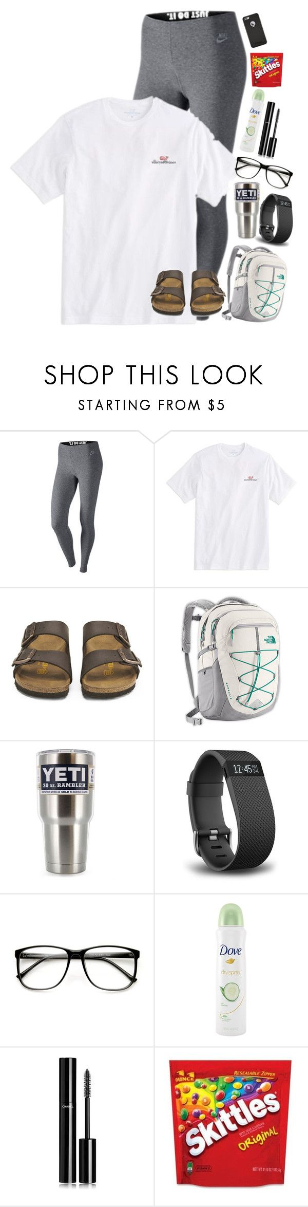 """Recreating my old sets!"" by lacrosse-19 ❤ liked on Polyvore featuring NIKE, Vineyard Vines, Birkenstock, The North Face, Fitbit, ZeroUV, Dove and Chanel"