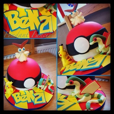 Pokemon ball - by FondantFancies @ CakesDecor.com - cake decorating website