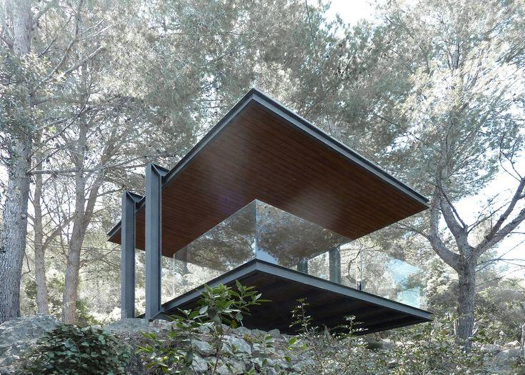This garden pavilion frames views across the Mediterranean Sea