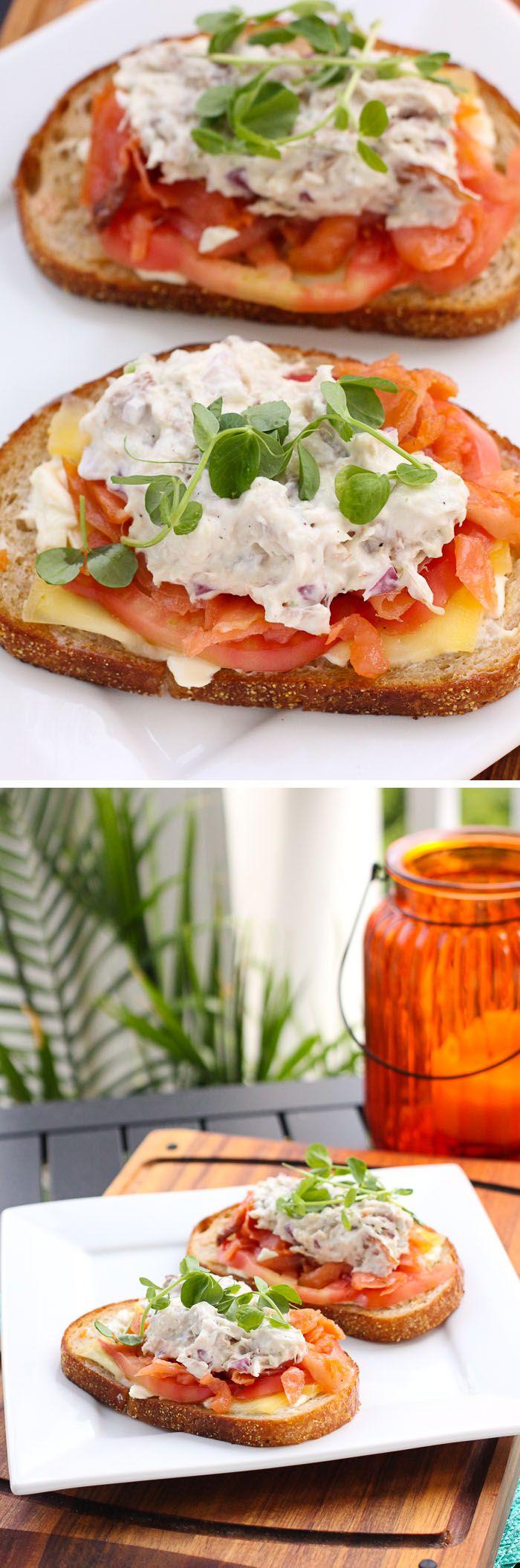Smoked Salmon and Whitefish Salad Melts