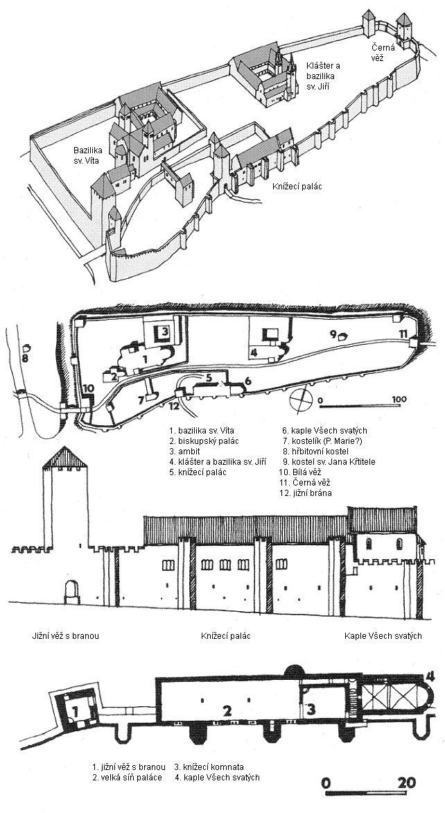 pražský hrad románský
