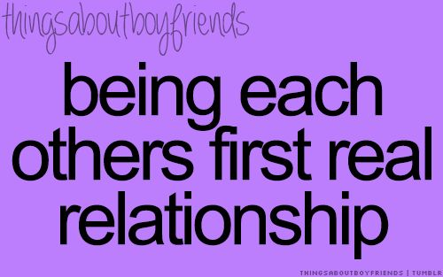 Being each others first real relationship... <3 Things about boyfriends
