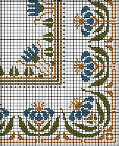 Antique Cross Stitch - rose - Álbuns da web do Picasa