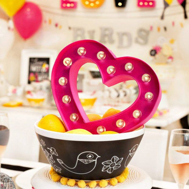Creative Kitchen Themed Bridal Shower with chef tools, colander centerpieces, kitchen timer favors, an apron game, oven mitt cupcake toppers and more!