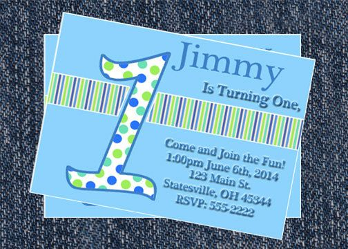 First Birthday Boy invitation-Personalized by HelenaPrints on Etsy