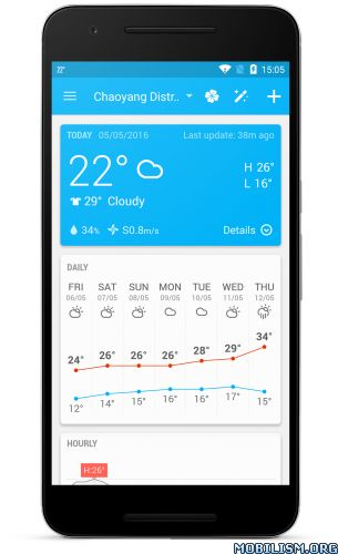 Amber Weather – Local Forecast v3.4.5 [Unlocked]Requirements: 4.0+Overview: Amber Weather offers various weather widget styles within a minimal designed weather app. Use your favorite widget on your home screen and enjoy it...