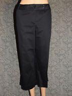 Worthington Dress Slacks Women's Stretch Black Pockets Short Cropped Capri Pants