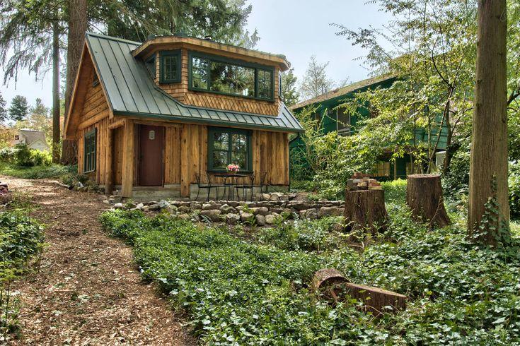 Haller Lake Restored Log Cabin Vacation Rental In